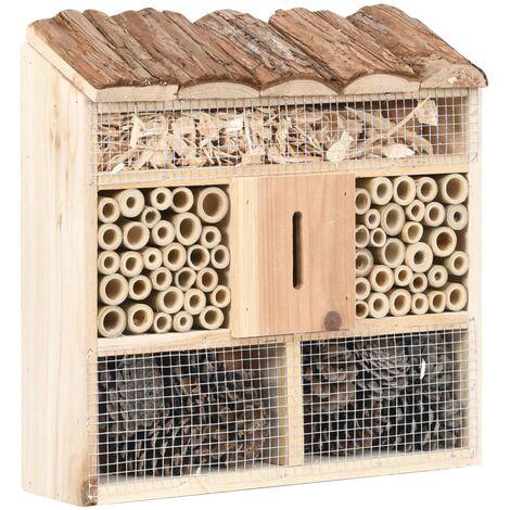 Hôtel à insectes 30x10x30 cm Bois de sapin