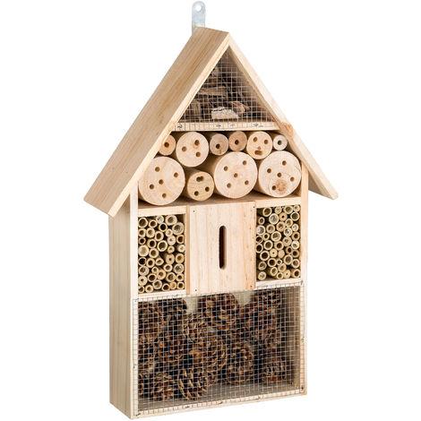 Hôtel à Insectes Maison à Insectes Boîte à Insectes 48 cm x 31 cm x 10 cm en Bois