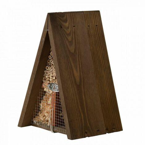 Hôtel insecte en bois triangulaire