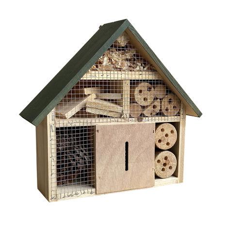 Hotel para insectos 300 x 90 x 280 mm, ayuda natural para la anidación de diferentes insectos