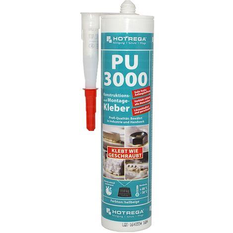 Hotrega PU 3000 Konstruktions- und Montagekleber für Handwerk und Industrie 310ml , H200110