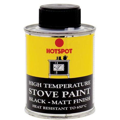 "main image of ""Hotspot HOT201010 Stove Paint Matt Black 100ml"""