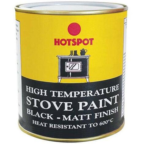 Hotspot HOT201040 Stove Paint Matt Black 500ml
