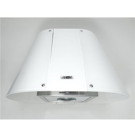 hotte aspirante de cuisine design conique verre blanc 60. Black Bedroom Furniture Sets. Home Design Ideas