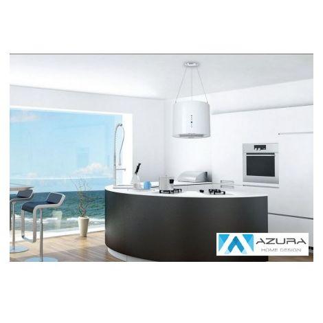Hotte aspirante îlot GALAXY 40cm - Couleur: Blanc