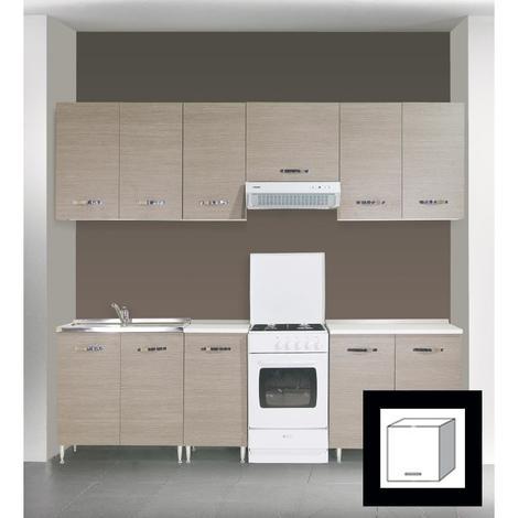 Hotte aspirante L60 cm blanche sous meuble pour plaque de cuisson TILLY60B