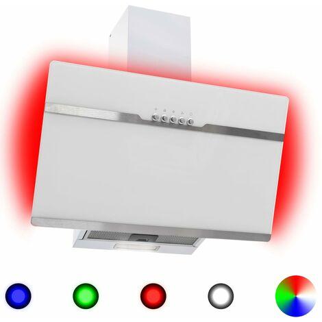 Hotte avec LED RVB 60 cm Acier inoxydable et verre trempé