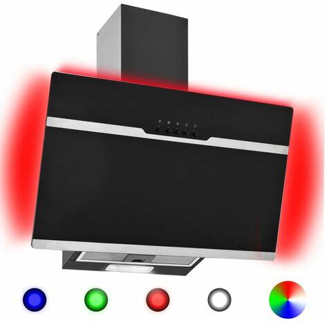 Hotte avec LED RVB 60 cm Acier inoxydable et verre trempe