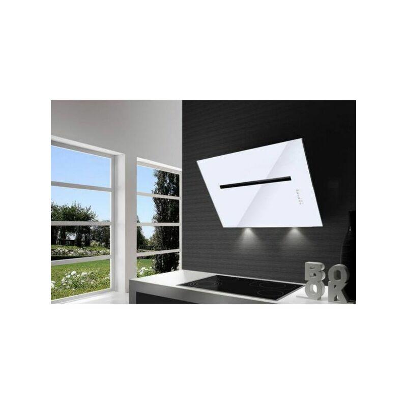 Hotte cuisine murale PLUTON verre blanc 80 cm - Airone