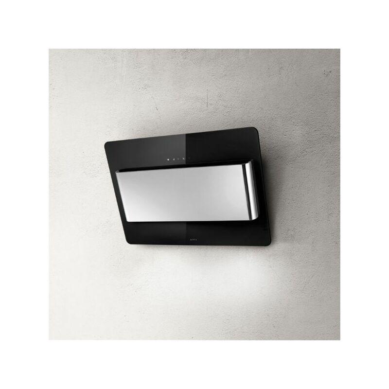 Hotte cuisine murale BELT verre noir et inox 80 cm - Elica