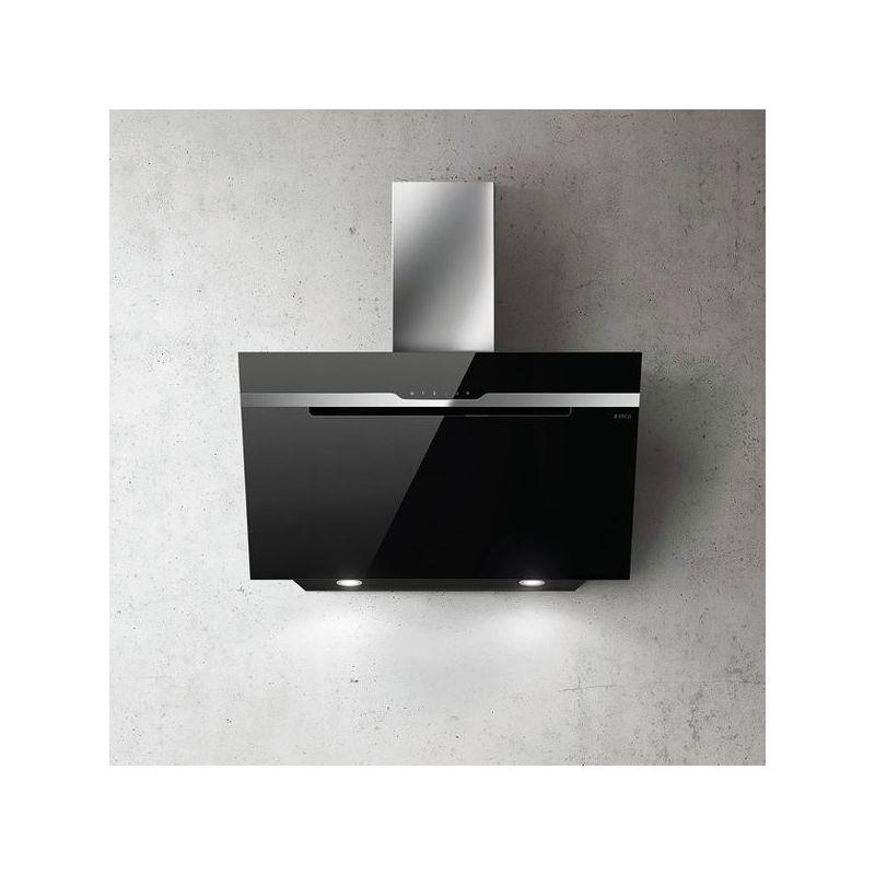 Hotte cuisine Elica murale MAJESTIC verre noir 60 cm