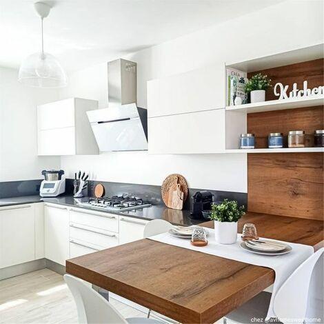 Hotte cuisine Elica murale STRIPE LUX blanc 90 cm