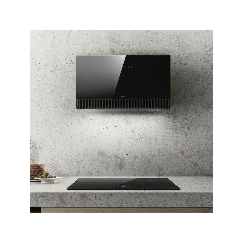Hotte cuisine murale SUPER PLAT verre noir 80 cm - Elica