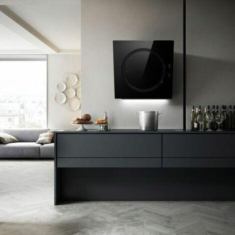 Hotte cuisine Elica murale verre noir OM AIR 75 cm - 750mm