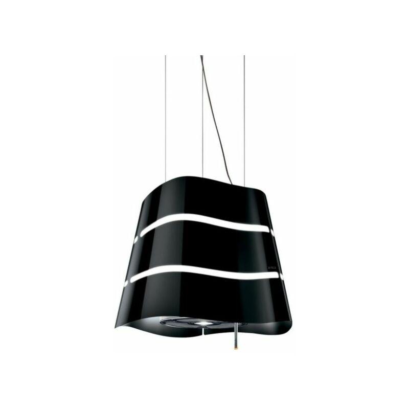 Hotte cuisine suspendue noire WAVE 51 cm - Elica