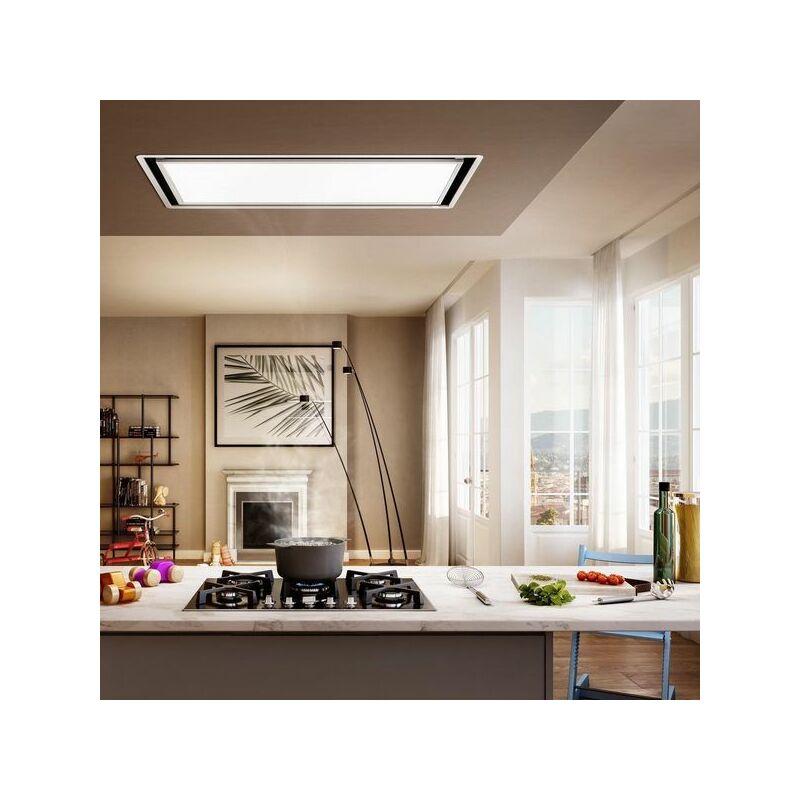 Hotte cuisine plafonnier SKYDOME coloris blanc H30 - Elica