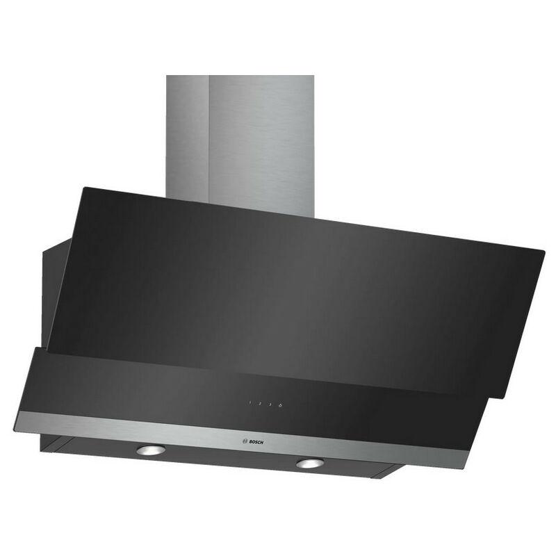 Hotte décorative inclinée 90cm 580m3/h noir - dwk095g60 - Bosch