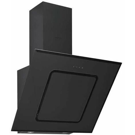 hotte décorative inclinée 60cm 537m3/h noir - hca62540b - beko