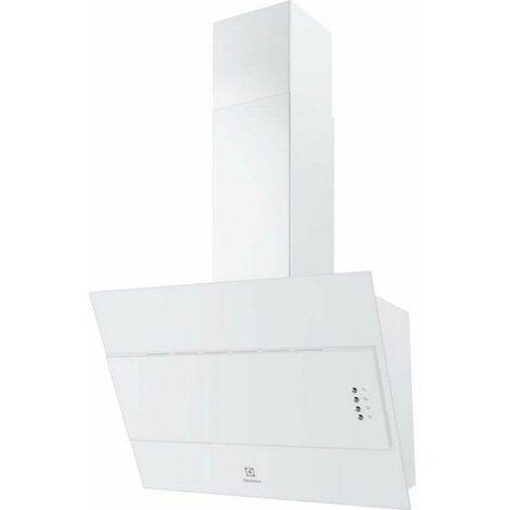hotte décorative inclinée 60cm 600m3/h blanc - lfv316w - electrolux