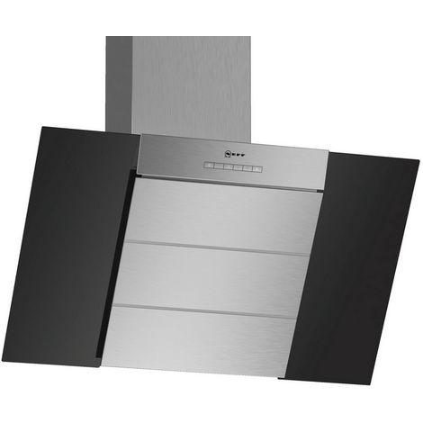 hotte décorative inclinée 80cm 400m3/h noir - d85ibe1s0 - neff