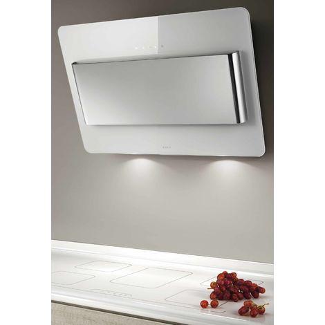 hotte décorative inclinée 80cm 603m3/h blanc/inox - prf0038443a - elica