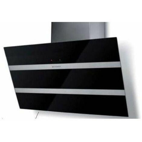 hotte décorative inclinée 80cm 68db 730m3/h noir/inox - 5513357 - faber