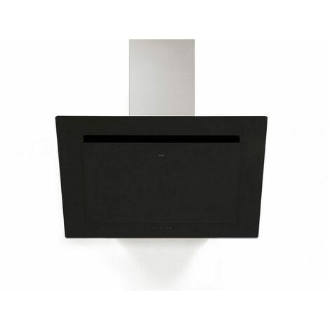 hotte décorative inclinée 90cm 467m3/h verre noir - 7830 - novy