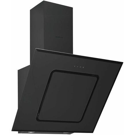 hotte décorative inclinée 90cm 577m3/h noir - hca92540b - beko
