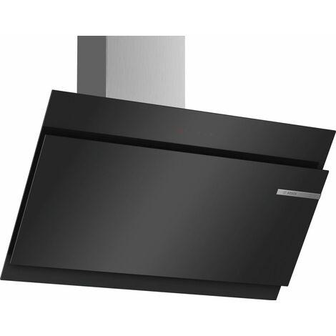 hotte décorative inclinée 90cm 840m3/h noir - dwk98jm60 - bosch