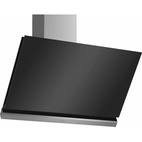 hotte décorative inclinée 90cm 840m3/h noir - dwk98pr60 - bosch