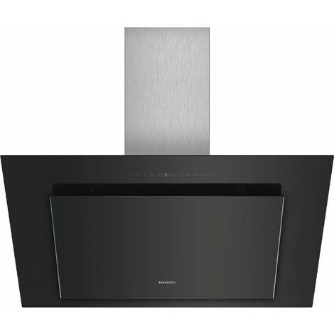 hotte décorative inclinée 90cm 840m3/h noir - lc98klv60 - siemens