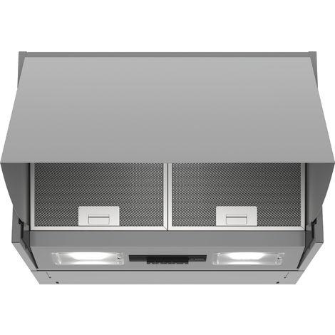 hotte escamotable 60cm 52db 360m3/h silver - dem63ac00 - bosch
