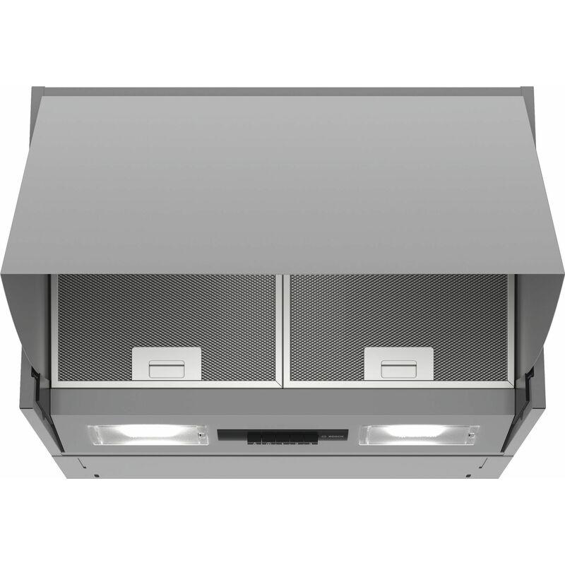 Hotte escamotable 60cm 70db 620m3/h argent - dem66ac00 - Bosch