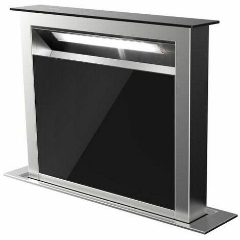 hotte plan de travail 60cm 630m³/h inox/noir - ahv659bk - airlux