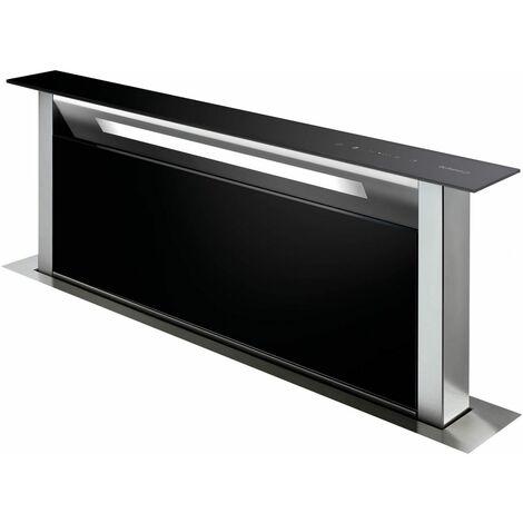 hotte plan de travail 90cm 503m³/h verre noir/inox - dhd7961b - de dietrich