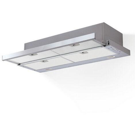 hotte télescopique 90cm 305 m³/h silver - aht930ix - airlux