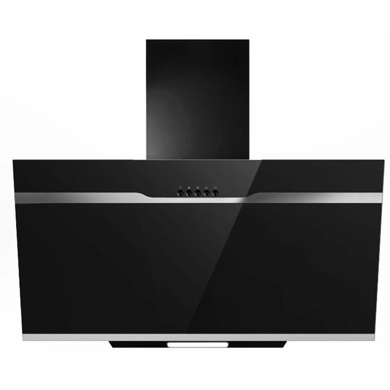 hotte verre noir BL tête de lit 60 cm LED