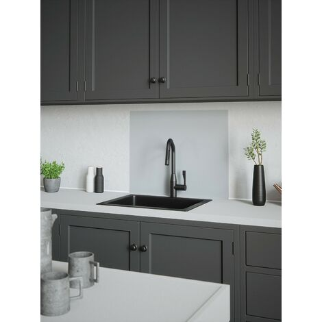 House Beautiful Platino Glass Kitchen Splashback 900mm x 750mm