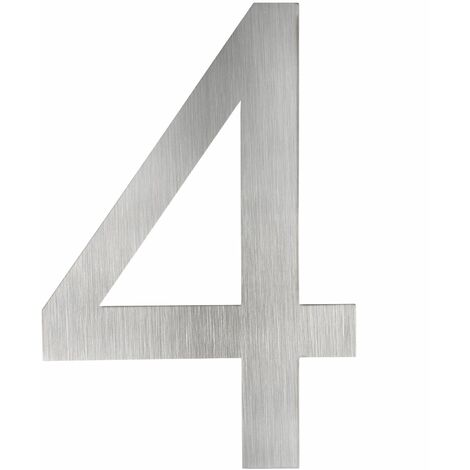 House number plaque made of stainless steel - number sign, house number, door number