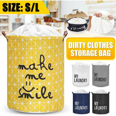 Household Laundry Basket Collapsible Laundry Basket Collapsible Laundry Basket (Black, S)