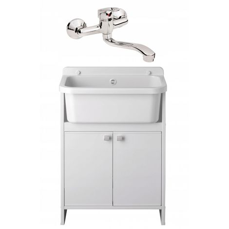 Household sink compartment cabinet 55 faucet set