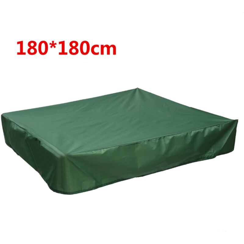 Soocas - Housse Bac à Sable Couverture Anti-poussière étanche Carré Auvent Abri Tissu Vert 180*180cm Sasicare