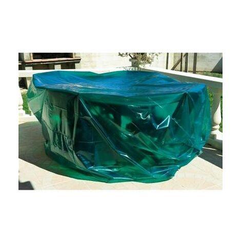 Housse bache de protection pour table chaise de jardin 150 cm + 4 chaises