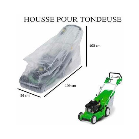 Housse bache de protection pour tondeuse à gazon 109 x 56 x 103 cm
