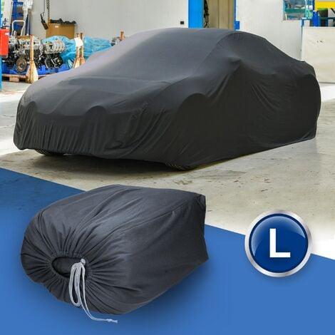 Housse bâche de protection voiture intérieure gris en satin L 482 x 178 x 119 cm