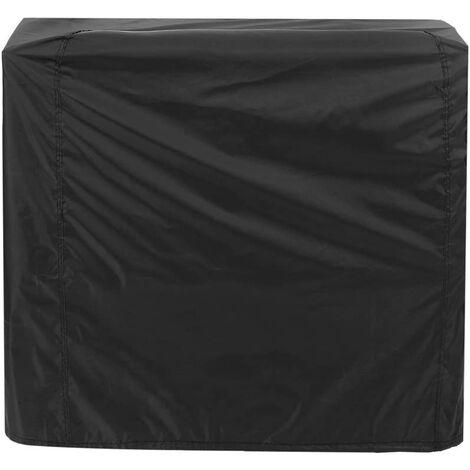 Housse Barbecue Noir, Couverture de Gril Anti-UV/Anti-l'eau/Anti-l'humidité Protection UV Poussière Eau Résistant au Vent pour Barbecue Extérieur Jardin Patio Grill (145x61x117cm)