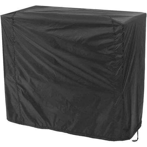 Housse Barbecue Noir, Couverture de Gril Anti-UV/Anti-l'eau/Anti-l'humidité Protection UV Poussière Eau Résistant au Vent pour Barbecue Extérieur Jardin Patio Grill (170x61x117cm)
