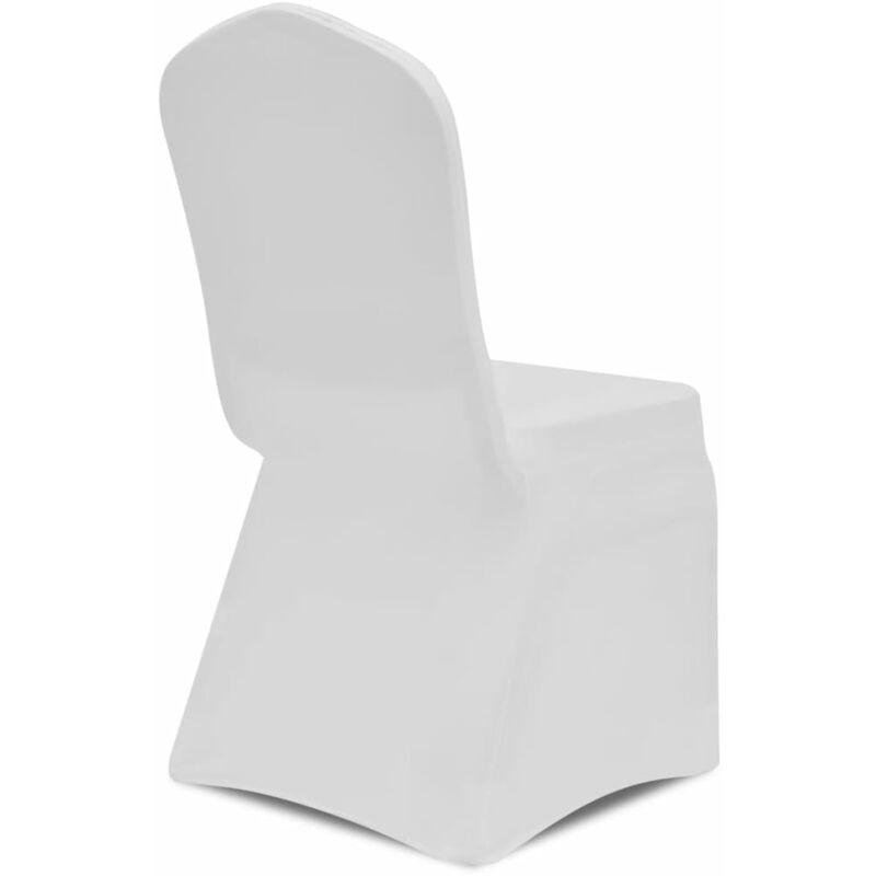 Housse blanche extensible pour chaise 50 pièces