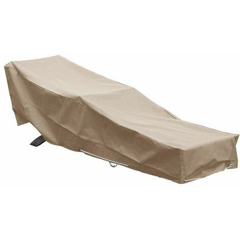 Housse chaise longue transat L 205 x l 70 x h 60 cm Beige - Beige