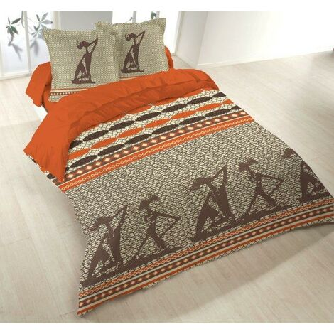 Housse couette 220x240 + 2 taies ZULIKA - Gris